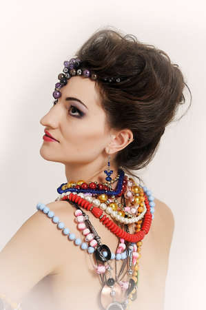 girl with a large Number of jewels Stock Photo - 14191559