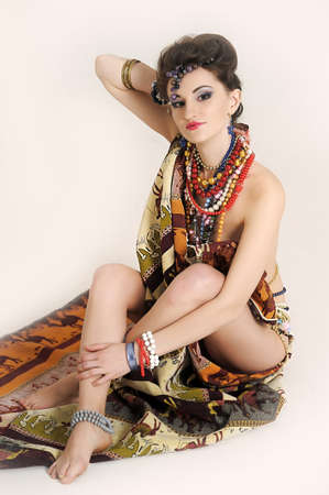 girl with a large Number of jewels photo