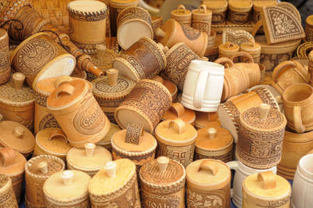 birch bark boxes Souvenirs photo
