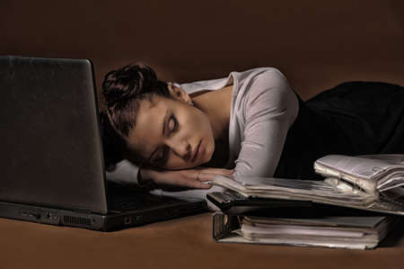 Business the woman was tired Stock Photo - 13480169
