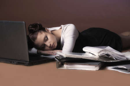 Business the woman was tired Stock Photo - 13479831