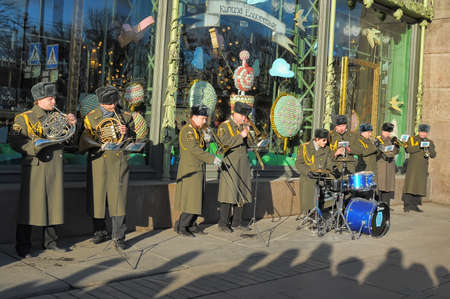 Orchestra on the street, Russia