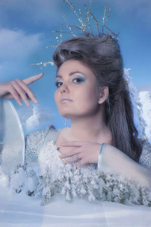 Portrait of beautiful winter queen photo