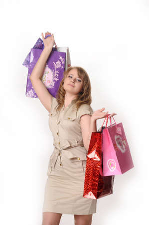 Young Woman on a Shopping Spree Stock Photo - 13571262