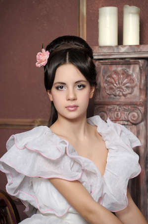 Young victorian lady  Stock Photo - 14235417