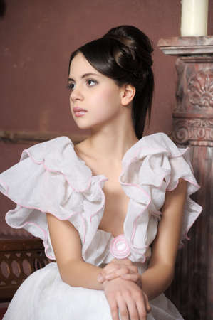 Young victorian lady  Stock Photo - 14235418