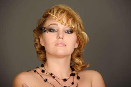 beautiful blonde portrait photo