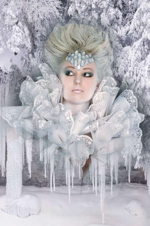 maquillaje fantasia: Reina de las nieves Foto de archivo
