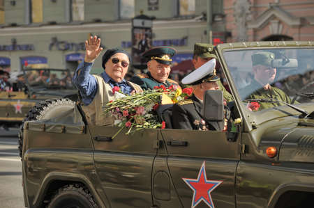 Veterans of the Second World War on Victory parade in St. Petersburg, Russia, on May 9 2012 Stock Photo - 13574325