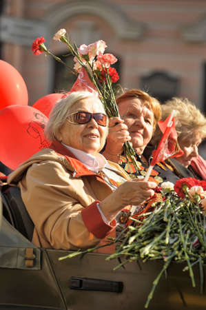 Veterans of the Second World War on Victory parade in St. Petersburg, Russia, on May 9 2012
