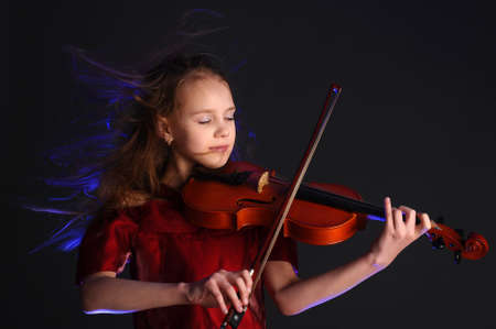 Girl  with a violin  photo