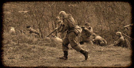 vintage military rifle: The scenario of military and historical reconstruction Last fight is devoted to battles on May 12-13, 1945 with the German parts which are breaking through from Prague towards allied forces.