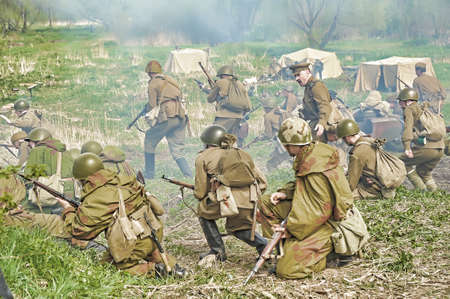The scenario of military and historical reconstruction 'Last fight' is devoted to battles on May 12-13, 1945 with the German parts which are breaking through from Prague towards allied forces.