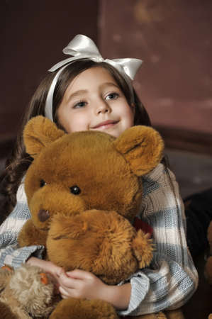 favorite colour: girl with a bear-cub