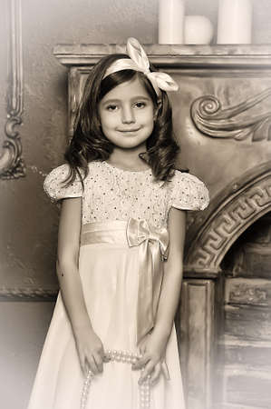 Vintage portrait of a little girl Stock Photo - 13680958