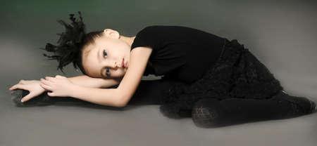 Little girl ballerina Stock Photo - 13682322