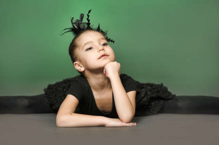 Little girl ballerina Stock Photo - 13682321