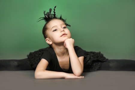 Little girl ballerina photo