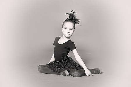 female form: Little girl ballerina Stock Photo