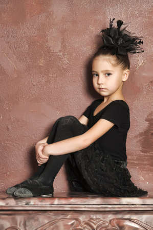 animal tutu: Little girl ballerina Stock Photo