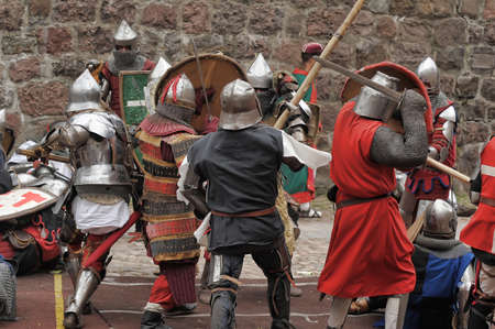 joust: in Vyborg Castle, the annual International Festival of Military History connoisseurs and lovers of the Middle Ages, Knight