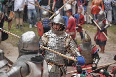 in Vyborg Castle, the annual International Festival of Military History connoisseurs and lovers of the Middle Ages,
