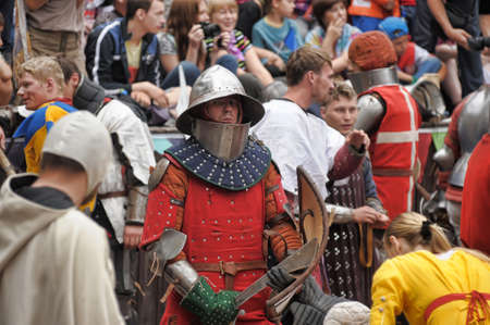 crusades: in Vyborg Castle, the annual International Festival of Military History connoisseurs and lovers of the Middle Ages, Knight