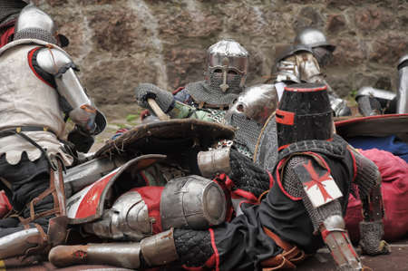jousting: in Vyborg Castle, the annual International Festival of Military History connoisseurs and lovers of the Middle Ages, Knight