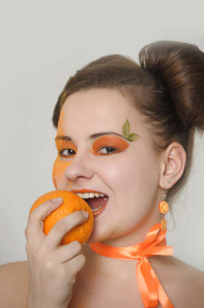 Orange girl  Stock Photo - 13678970