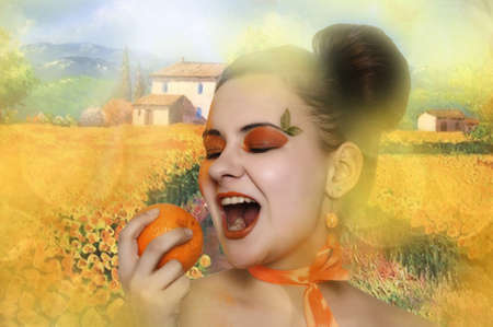 Orange girl  Stock Photo - 13678958