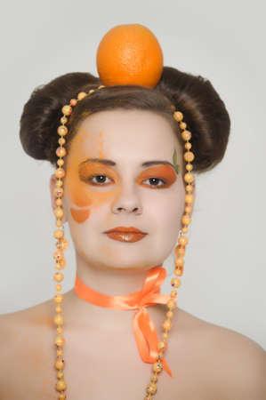Orange girl  Stock fotó