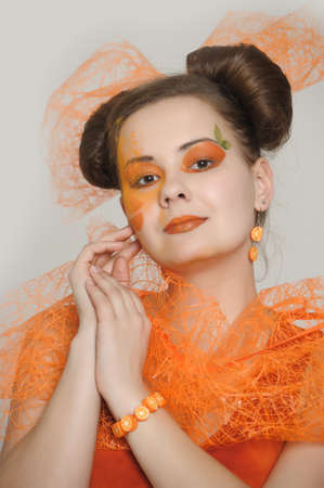 Orange girl  Stock Photo - 13682654