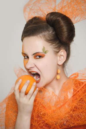Orange girl Stock Photo - 13682650