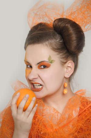 Orange girl  photo