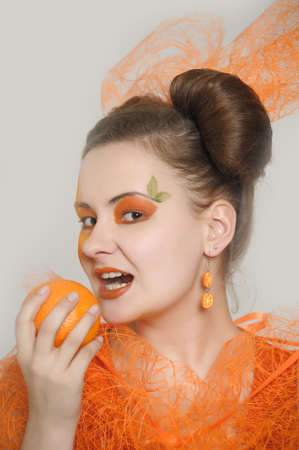 Orange girl Stock Photo - 13682648