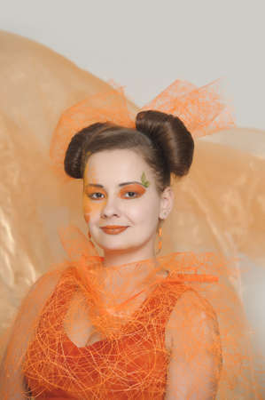 Orange makeup  photo