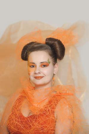 Orange makeup  Stock fotó