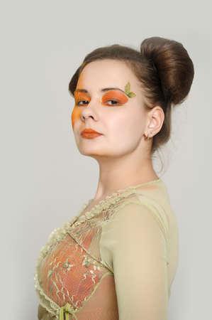 Orange makeup  photo