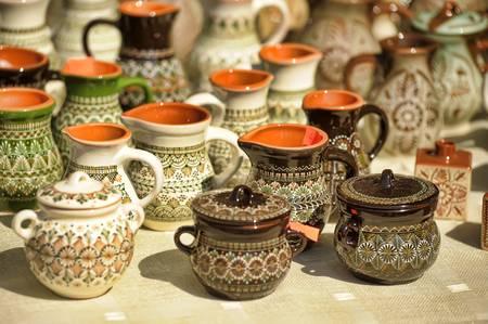Empty jugs and pots photo