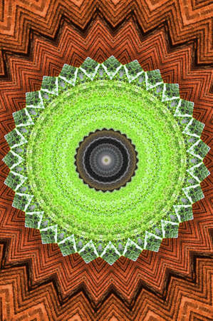 Brown with green circle pattern Stock Photo - 13734593