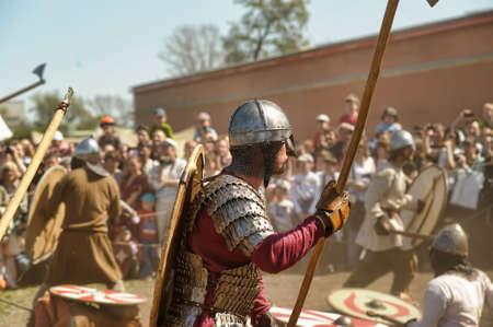 Historical Festival Legends of the Norwegian Viking, Russia, St. Petersburg Editorial