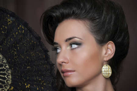 Beautiful Woman  Retro Styled Soft Portrait photo