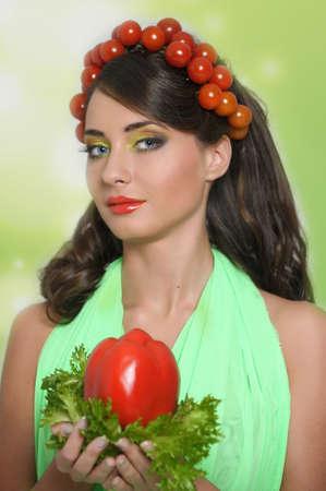 vegetable girl Stock Photo - 13817830