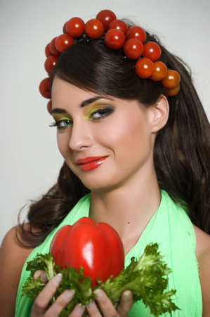vegetable girl Stock Photo - 13817835