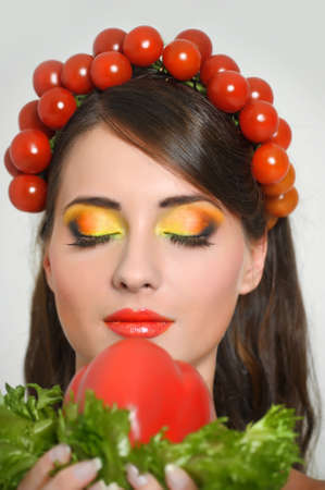vegetable girl Stock Photo - 13817766
