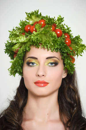 vegetable girl Stock Photo - 13836872