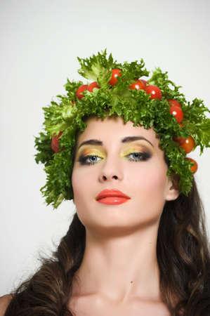 vegetable girl Stock Photo - 13817815