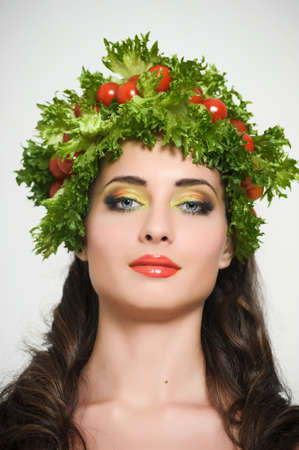 vegetable girl Stock Photo - 13817794