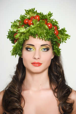 vegetable girl Stock Photo - 13817822