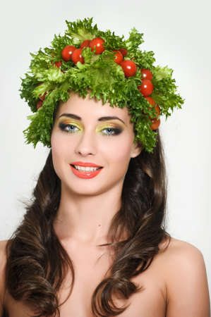 vegetable girl photo